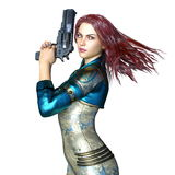 Супер женщина иллюстрация вектора