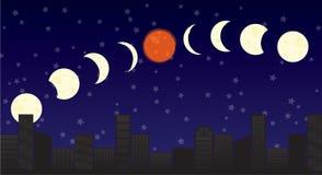 Супер затмение луны Стоковое фото RF