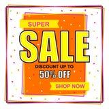 Супер дизайн плаката, знамени или рогульки продажи Стоковые Изображения