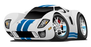 Супер иллюстрация вектора шаржа автомобиля иллюстрация вектора