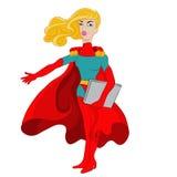 Супер компьтер-книжка женщины Стоковая Фотография