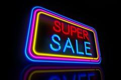 Супер неон продажи бесплатная иллюстрация
