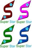 Супер логотип звезды иллюстрация вектора