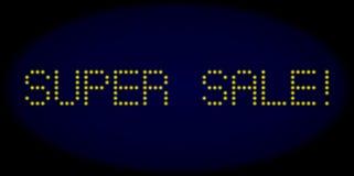 СУПЕР ПРОДАЖА! Текст приведенный стиля с накаляя точками иллюстрация вектора