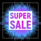 Супер плакат продажи с рамкой Стоковая Фотография