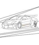Супер страница расцветки автомобиля иллюстрация штока