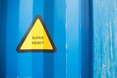 Супер тяжелый голубой контейнер Стоковые Фотографии RF