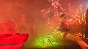 Супер украшение хеллоуина на бульваре Alegria, Сьерре Madre Стоковые Фотографии RF