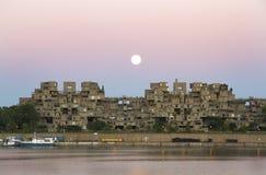 Супер луна и среда обитания 67 стоковое фото rf
