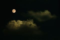 Супер луна, 10-ое августа 2014, от Beliko Tarnovo, Болгария Стоковое Фото