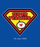 Супер учитель иллюстрация вектора