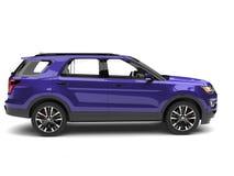 Супер фиолетовый современный взгляд со стороны SUV автомобильный иллюстрация вектора