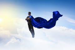 Супер человек в небе Стоковые Фото