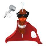 Супер человек Kebab в красном плаще Стоковая Фотография