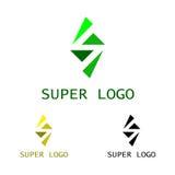 Супер шаблон логотипа Стоковое Изображение RF