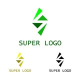 Супер шаблон логотипа Стоковые Фотографии RF