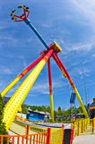 Супер широкий взгляд красочные качания в парке атракционов Prater на вене Стоковая Фотография