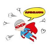 Супер grandpa, конспект шаржа, иллюстрация Стоковые Фото