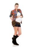 супоросая белая женщина Стоковая Фотография RF