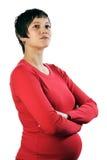 супоросая самолюбивая женщина Стоковая Фотография