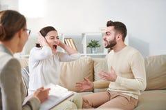 Супруги кричащие стоковое изображение
