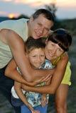 Супруг, жена и сын Стоковая Фотография