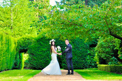 Супруг и жена на дворце Стоковое Изображение RF