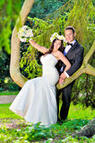 Супруг и жена на дворце Стоковые Фотографии RF