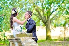 Супруг и жена на дворце Стоковое Изображение