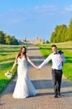 Супруг и жена на дворце Стоковая Фотография RF