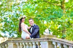 Супруг и жена на дворце Стоковые Изображения RF