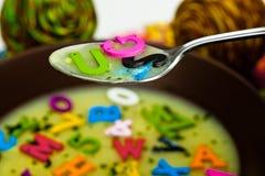 суп алфавита Стоковые Изображения RF