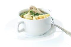 суп лапшей цыпленка стоковое изображение rf