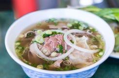 Суп лапши говядины Pho вьетнамца Стоковое Изображение RF