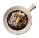 Суп лапши с мясом стоковое изображение rf