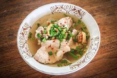 Суп лапши с свининой Стоковая Фотография RF