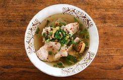 Суп лапши с свининой Стоковые Фото