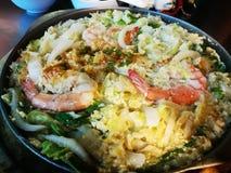 Суп лапши с травой призвания Таиланда Стоковая Фотография