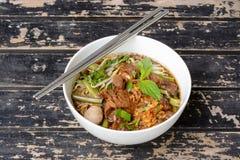 суп лапши тайский стоковое изображение