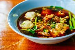 суп лапши тайский Стоковая Фотография RF