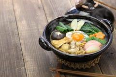 Суп лапши udon nikomi мисо, японская еда Стоковое Изображение