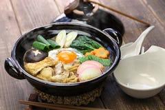 Суп лапши udon nikomi мисо, японская еда Стоковые Изображения RF