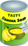 суп банана Стоковое Изображение