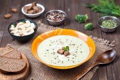 Суп брокколи Vegan cream стоковое фото rf