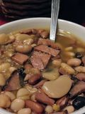 Суп ветчины и фасоли стоковая фотография rf