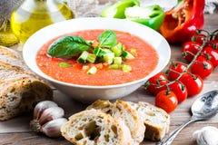 Суп гаспачо томата с перцем Стоковые Изображения