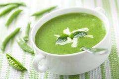 Суп гороха с мятой Стоковое Изображение RF