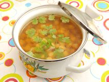 Суп горохов цыпленока Стоковые Фотографии RF