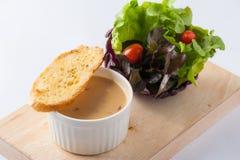 Суп гриба с здравицей и овощем Стоковое Изображение