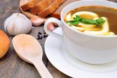 Суп гриба с майонезом Стоковые Фото